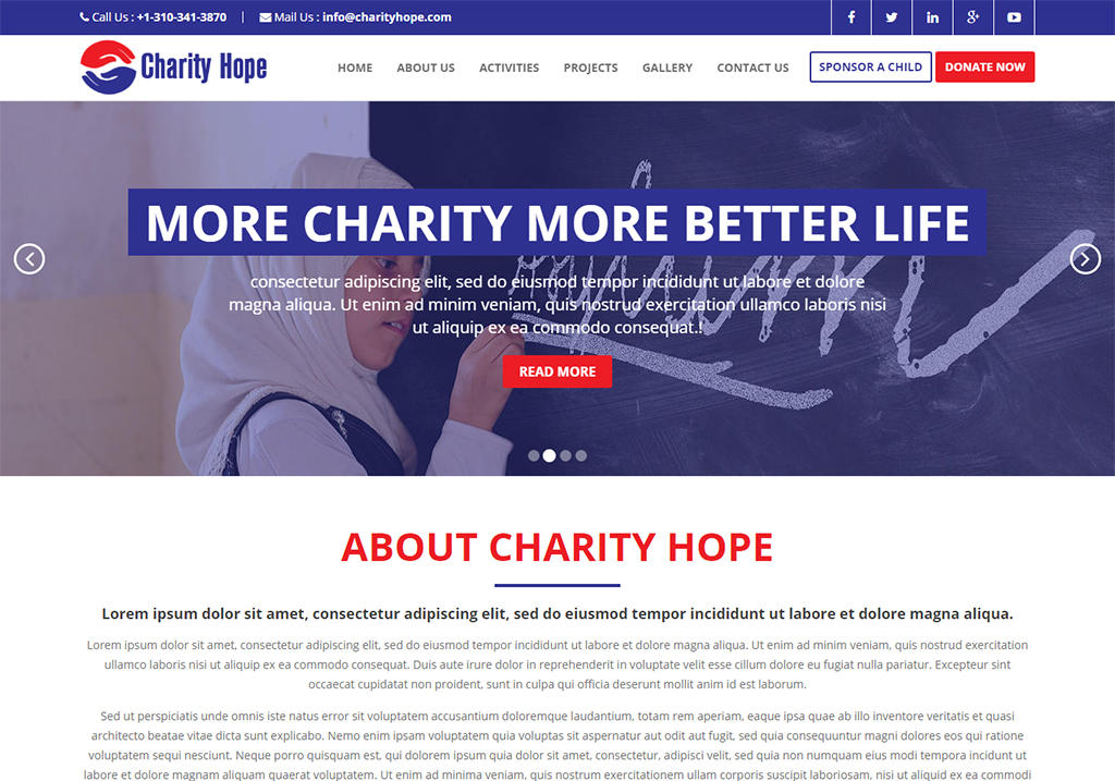 charity website template free download bootstrap charity hope. Black Bedroom Furniture Sets. Home Design Ideas